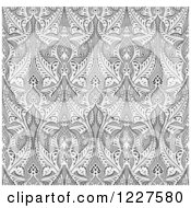 Clipart Of A Ornate Gray Seamless Islamic Pattern Background Royalty Free Vector Illustration by AtStockIllustration