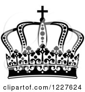 Clipart Of A Black And White Crown 5 Royalty Free Vector Illustration