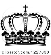 Clipart Of A Black And White Crown 15 Royalty Free Vector Illustration
