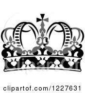 Clipart Of A Black And White Crown 3 Royalty Free Vector Illustration
