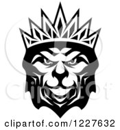 Black And White Crowned Lion