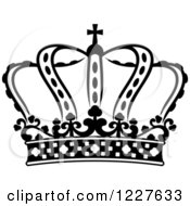 Clipart Of A Black And White Crown 4 Royalty Free Vector Illustration