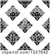 Clipart Of A Seamless Pattern Of Damask In Black And White 5 Royalty Free Vector Illustration