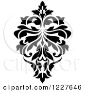 Clipart Of A Black And White Floral Damask Design 30 Royalty Free Vector Illustration