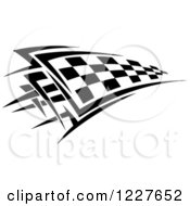 Clipart Of A Black And White Checkered Tribal Racing Flag 6 Royalty Free Vector Illustration