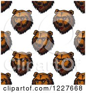 Clipart Of A Seamless Background Pattern Of Bear Heads Royalty Free Vector Illustration