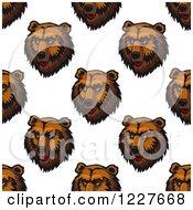 Seamless Background Pattern Of Bear Heads
