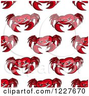 Clipart Of A Seamless Background Pattern Of Crabs Royalty Free Vector Illustration