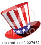 Clipart Of A Patriotic American Flag Top Hat Royalty Free Vector Illustration