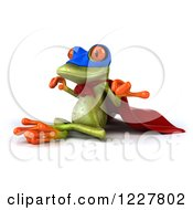 Clipart Of A 3d Super Springer Frog Meditating 2 Royalty Free Illustration