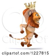Clipart Of A 3d Lion King Running Royalty Free Illustration