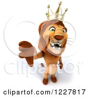 3d Lion King Holding A Thumb Down