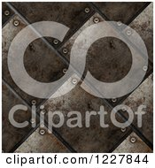 Clipart Of A 3d Rusted Metal Tile Background Royalty Free Illustration by KJ Pargeter