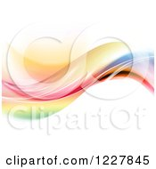 Clipart Of A Wave Of Colors On White Royalty Free Illustration
