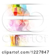 Clipart Of Abstract Futuristic Geometric Website Header Banners Royalty Free Vector Illustration