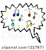 Clipart Of A Cloud Of Music Notes Royalty Free Vector Illustration