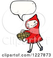 Clipart Of A Talking Red Riding Hood Royalty Free Vector Illustration