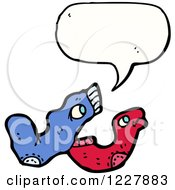 Clipart Of Talking Socks Royalty Free Vector Illustration by lineartestpilot
