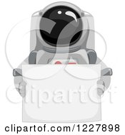 Astronaut In A Space Suit Holding A Sign