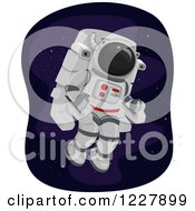 Clipart Of An Astronaut In A Propulsion Unit Royalty Free Vector Illustration