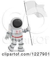 Clipart Of An Astronaut In A Space Suit Carrying A Flag Royalty Free Vector Illustration by BNP Design Studio