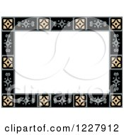 Clipart Of A Border Of Geometric Tiles Around White Text Space Royalty Free Vector Illustration