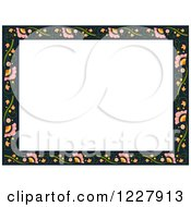 Border Of Flowers Around White Text Space