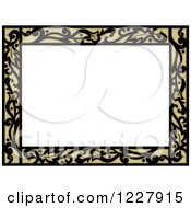 Clipart Of A Border Of Floral Filagree Around White Text Space Royalty Free Vector Illustration