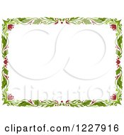 Clipart Of A Border Of Floral Vines Around White Text Space Royalty Free Vector Illustration