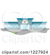 Clipart Of A Grocery Store Building Facade Royalty Free Vector Illustration