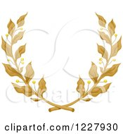 Clipart Of A Laurel Wreath Of Golden Branches Royalty Free Vector Illustration