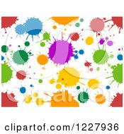 Clipart Of A Seamless Background Of Colorful Splatters On White Royalty Free Vector Illustration
