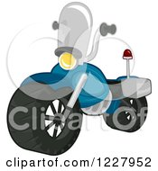 Clipart Of A Toy Police Motorcycle Royalty Free Vector Illustration by BNP Design Studio