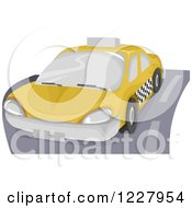 Clipart Of A City Taxi Cab Royalty Free Vector Illustration by BNP Design Studio