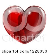 Clipart Of A Red Heart With Silhouetted Family Faces Royalty Free Vector Illustration by AtStockIllustration