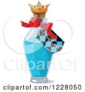Clipart Of A Drink Me Tag On A Bottle In Wonderland Royalty Free Vector Illustration