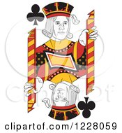 Clipart Of A Jack Of Clubs Royalty Free Vector Illustration
