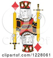 Clipart Of A Jack Of Diamonds Royalty Free Vector Illustration