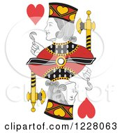 Clipart Of A Jack Of Hearts Royalty Free Vector Illustration