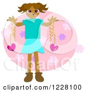 Girl With Valentines Day Hearts