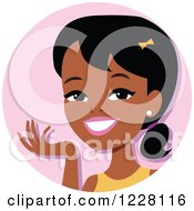 Young Black Woman Avatar Smiling And Gesturing