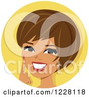Clipart Of A Happy Hispanic Woman Avatar Smiling Royalty Free Vector Illustration by Monica