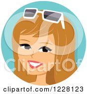 Ann of blond teen holding sunglasses planet the