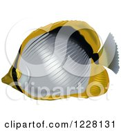 Clipart Of A Blackback Butterflyfish Royalty Free Vector Illustration