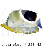 Clipart Of A Saddleback Butterflyfish Royalty Free Vector Illustration