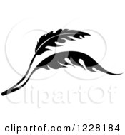 Clipart Of A Black And White Floral Scroll Design 4 Royalty Free Vector Illustration