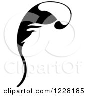 Clipart Of A Black And White Floral Scroll Design 5 Royalty Free Vector Illustration