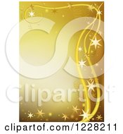 Clipart Of A Golden Background Bordered With Stars Royalty Free Vector Illustration by dero