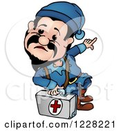 Clipart Of A Dwarf Paramedic Royalty Free Vector Illustration by dero