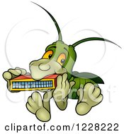 Bug Playing A Harmonica